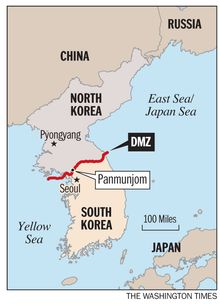 The location of the DMZ. (The Washington Times)