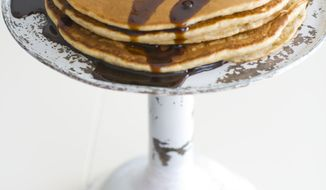 ** FILE ** Pancakes with molasses and honey used as a base are displayed in Concord, N.H. (AP Photo/Matthew Mead)