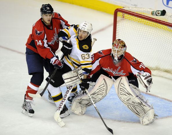 Defensemen John Carlson and Karl Alzner lead the Washington Capitals with 17 blocked shots apiece in the playoffs. (AP Photo/Nick Wass)