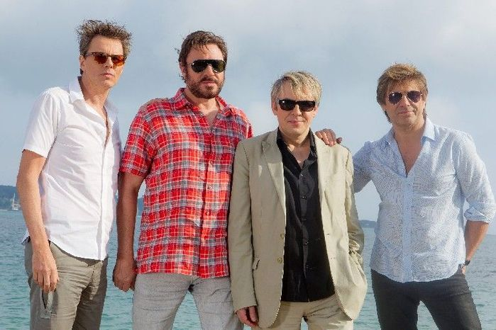 """Duran Duran (from left) John Taylor, Simon Le Bon, Nick Rhodes and Roger Taylor will represent England at a concert to kick off the London Olympics this summer. Mr. Le Bon said it will be """"one of the highlights of the last decade for us."""" (Associated Press)"""