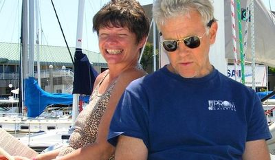 ** FILE ** Phyllis Macay and Bob Riggle are seen on a yacht in Bodega Bay, Calif., in June 2005. (Associated Press/Courtesy of Joe Grande)