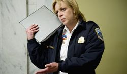 Chief Cathy L. Lanier's contract expired in April, and negotiations on a new be affected by a new law capping executive salaries. Her current $253,000 salary is fourth-highest in the nation. (Andrew Harnik/The Washington Times)