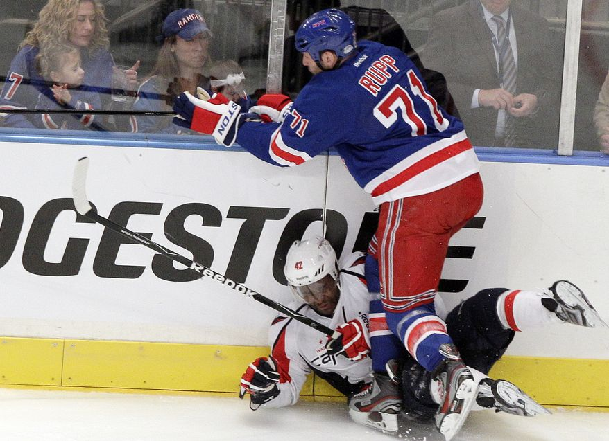 New York Rangers forward Mike Rupp has won one Stanley Cup in his career and has a lot of playoff experience. (AP Photo/Frank Franklin II)