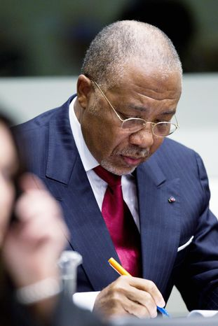 **FILE** Former Liberian President Charles Taylor (Associated Press)