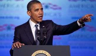 **FILE** President Obama speaks April 30, 2012, in Washington. (Associated Press)