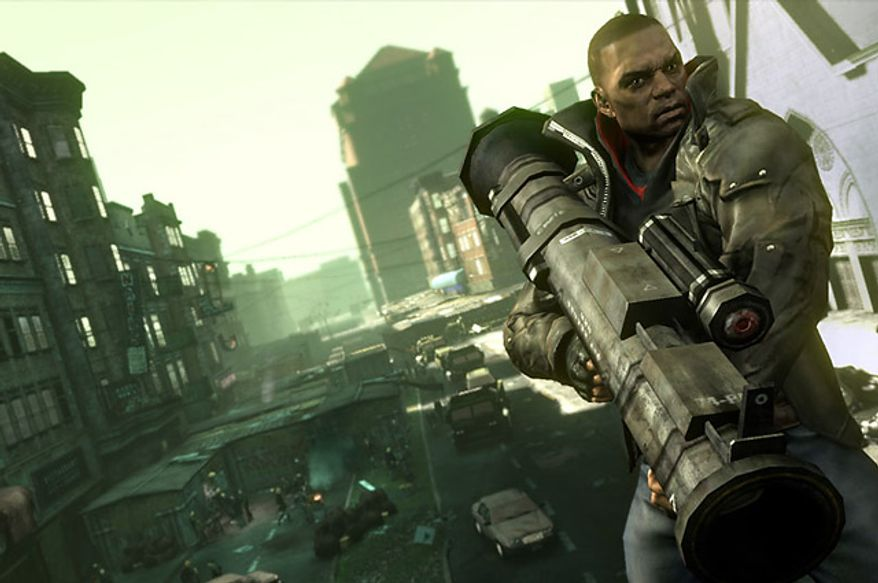 James Heller uses super powers and big guns in the violent video game Prototype 2: Radnet Edition.
