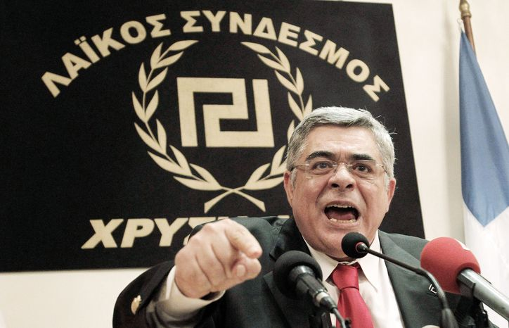 The Golden Dawn party led by Nikolaos Michaloliakos made inroads in Sunday's parliamentary elections, one of several fringe parties to benefit as Greeks punished the parties in power that backed harsh austerity measures tied to debt relief agreements. (Associated Press)