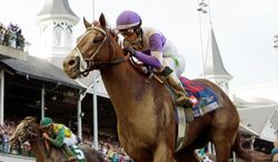 I'll Have Another, under Mario Gutierrez, beat 4-1 favorite Bodemeister by 1 1/2 lengths to win the Kentucky Derby. Next is the Preakness on May 19 at Pimlico. (Associated Press)