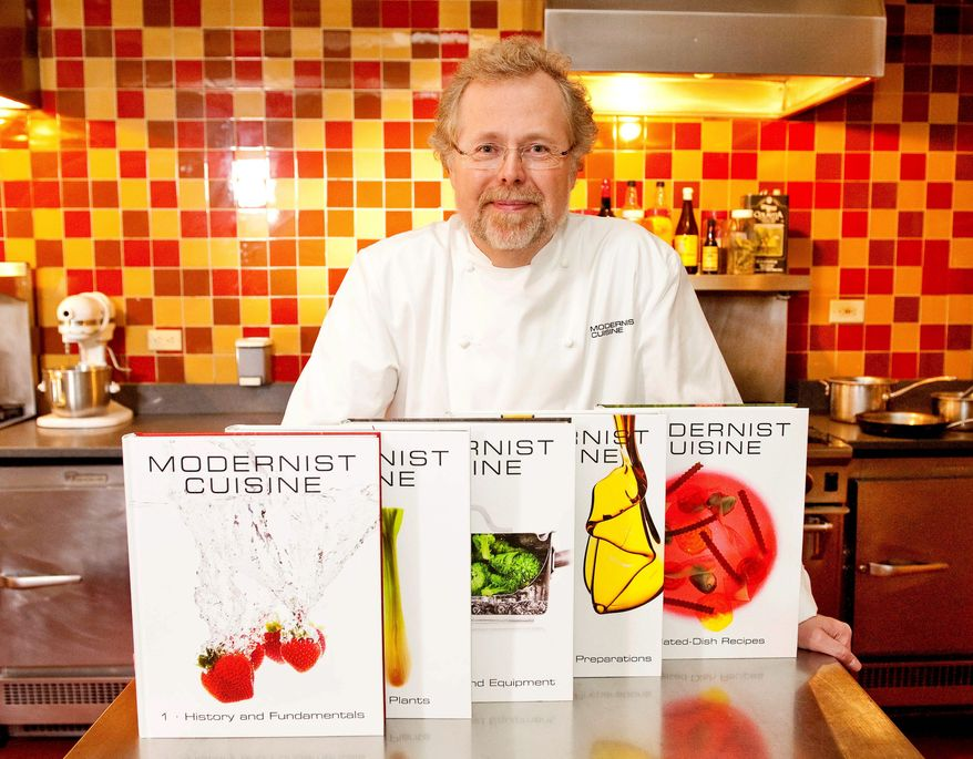 """Modernist Cuisine: The Art and Science of Cooking,"" written by former Microsoft executive Nathan Myhrvold, won a James Beard Award for Cookbook of the Year. (Associated Press)"