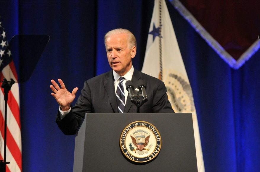 Vice President Joseph R. Biden made his remark in favor of gay marriage two days before voters in the swing state of North Carolina are to weigh in Tuesday on a ballot measure that would codify the traditional definition of marriage as only the union of one man and one woman. (Associated Press)