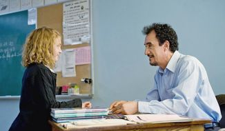 """Sophie Nelisse co-stars with Mohamed Fellag, who plays the title role in """"Monsieur Lazhar."""" The film was Canada's entry for an Oscar for best foreign film. (Music Box Films)"""