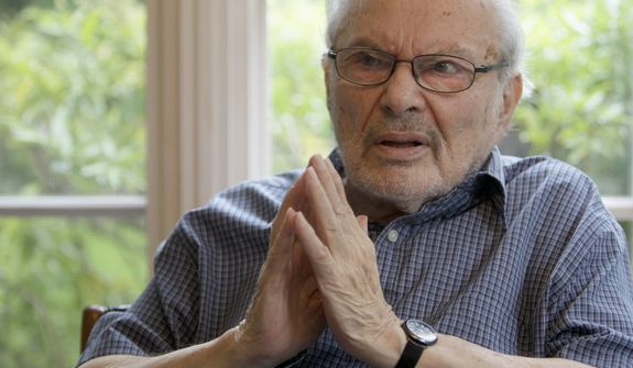 Children's book author Maurice Sendak gives an interview at his home in Ridgefield, Conn., on Sept. 6, 2011. Mr. Sendak died May 8, 2012, in Danbury, Conn., at age 83. (Associated Press)