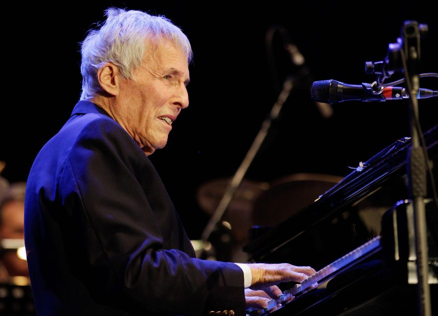 American pianist and composer Burt Bacharach was to receive the Library of Congress Gershwin Prize for Popular Song from President Obama on Wednesday night along with his longtime lyricist, Hal David. It is named for George and Ira Gershwin. (Associated Press)