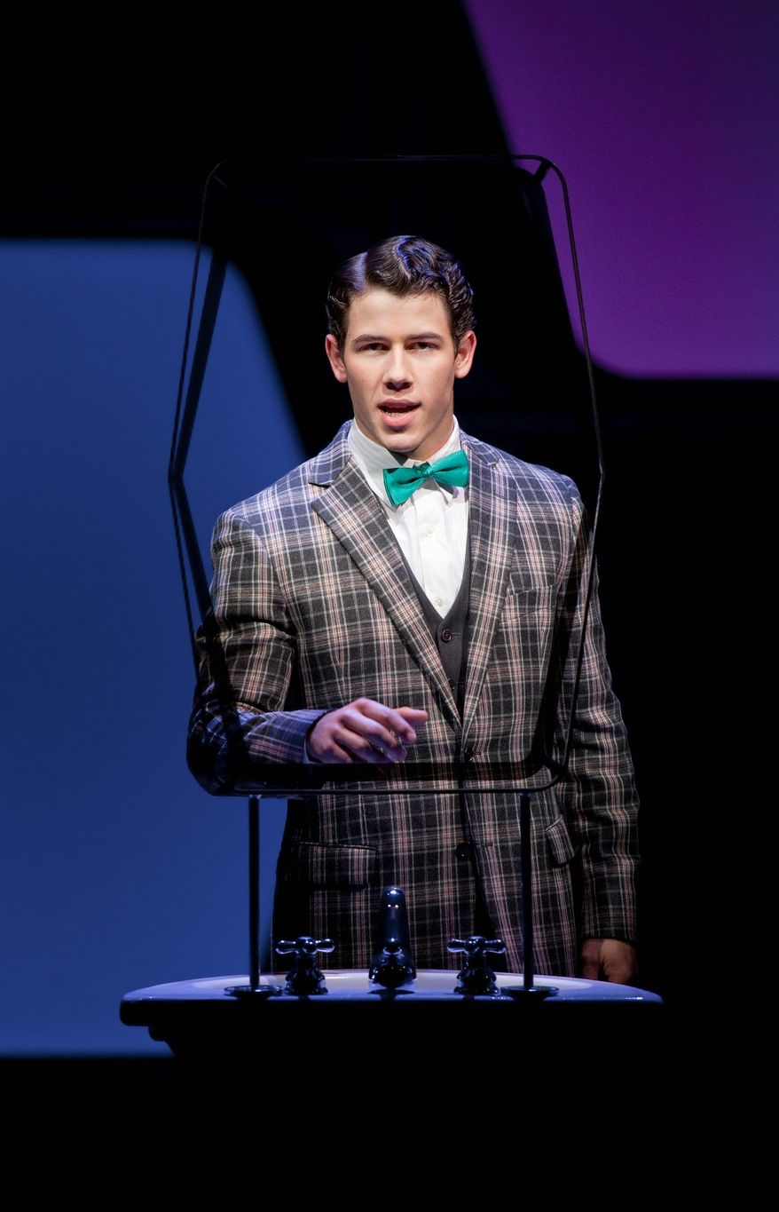 "Nick Jonas in ""How to Succeed in Business Without Really Trying."" The production opened at Broadway's Al Hirschfeld Theatre in February 2011 and will close May 20. The Tony and Pulitzer winner has gone to Broadway three times in 50 years. (The Hartman Group via Associated Press)"