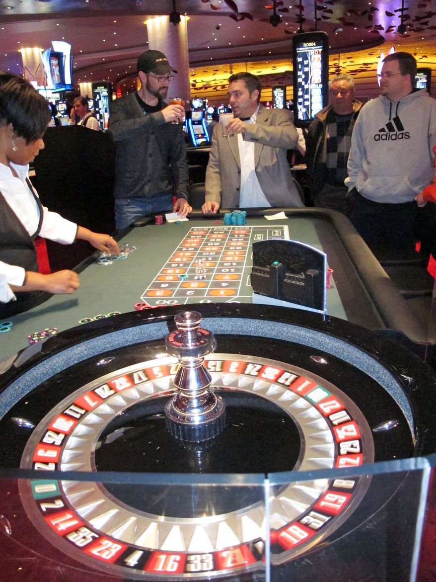 The American Gaming Association's annual report released Wednesday noted casino revenues are  up 3 percent nationwide. Non-Indian casinos or other legal gambling halls took in $35.6 billion last year. (Associated Press)