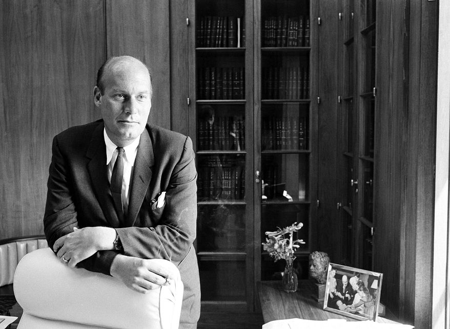 Nicholas Katzenbach, here as attorney general in his office at the Department of Justice in 1965, held influential posts in the Kennedy and Johnson administrations in the '60s and played a prominent role in federal desegregation efforts in the South. (Associated Press)