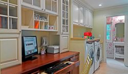 Photo courtesy of Case Design/Remodel Today's cabinets and drawers can be designed to hide the technology of the home office to help cut down what could be a cluttered look.