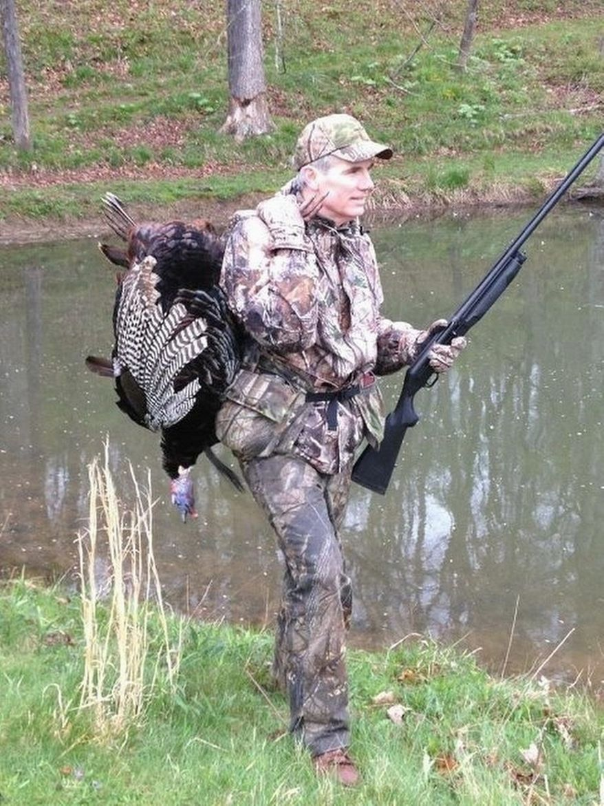 """The press is opining that Sen. Rob Portman, Ohio Republican, is a favorite """"insider"""" pick as Mitt Romney's vice presidential running mate. Among his outdoorsy interests, Mr. Portman is an avid hunter, and he bagged a turkey during time off from his House duties last month. (Photo provided by Rob Portman)"""