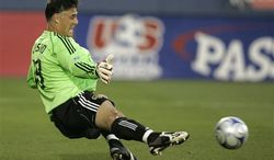 Pat Onstad, shown with the Houston Dynamo, has been an assistant coach with D.C. United for two seasons. He has the role of mentoring United's young goalies. (AP Photo/Tony Gutierrez)