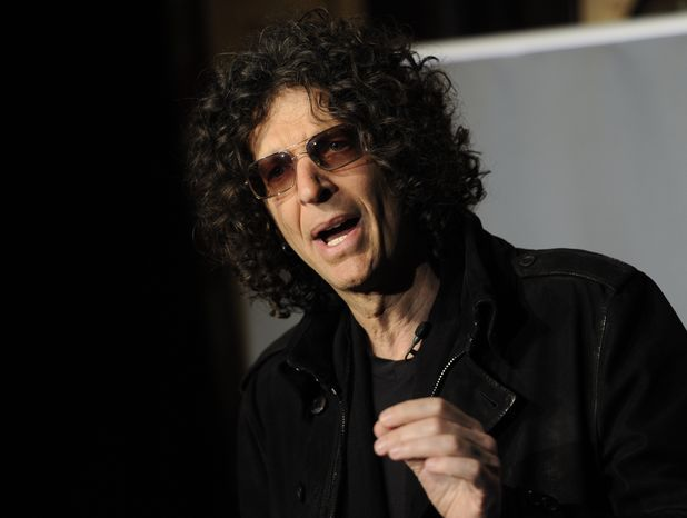 """SiriusXM satellite radio talk show host Howard Stern speaks to the media about his new role as a judge on """"America's Got Talent"""" at the Friars Club on Thursday, May 10, 2012 in New York. (AP Photo/Evan Agostini)"""