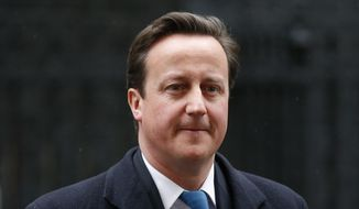 ** FILE ** British Prime Minister David Cameron (Associated Press)