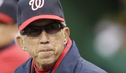 Washington Nationals manager Davey Johnson is comfortable enough with his club that he doesn't believe a trade deadline move is necessary. (AP Photo/Gene J. Puskar)