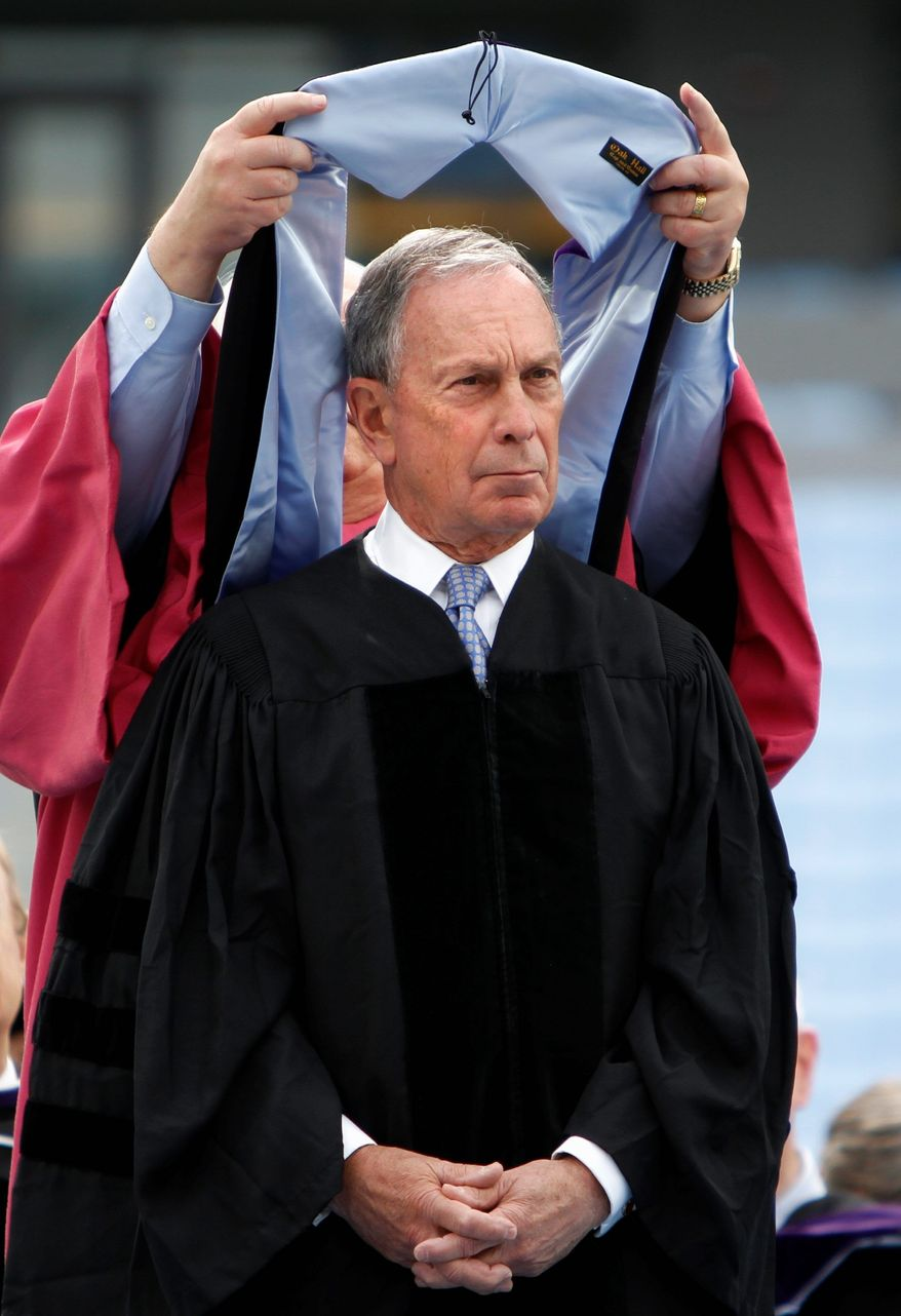 New York City Mayor Michael R. Bloomberg told University of North Carolina graduates during his commencement address Sunday that last week's gay marriage vote in the state shows there is still work to be done for civil rights in the U.S. (News & Observer via Associated Press)