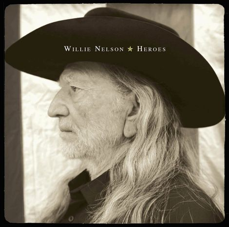 """In this CD cover image released by Legacy Recordings, the latest release by Willie Nelson, """"Heroes,"""" is shown. (AP Photo/Legacy Recordings)"""