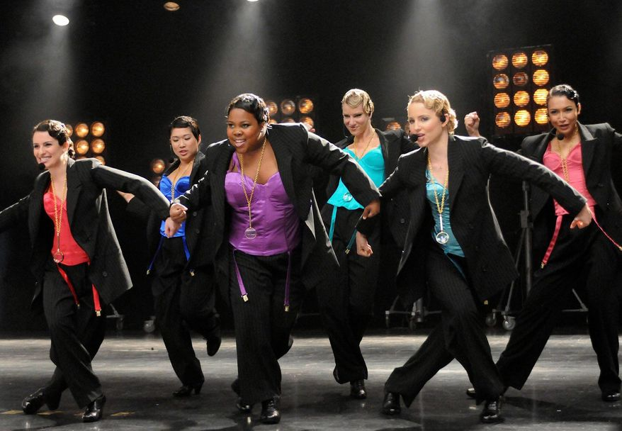 "A ""Glee"" episode features (from left) Lea Michele, Jenna Ushkowitz, Amber Riley, Heather Morris, Dianna Agron and Naya Rivera. (Associated Press)"