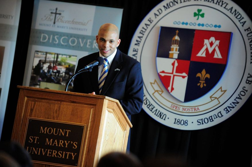 Jamion Christian's goal was to become a Division I head coach by the time he was 30. He did even better, taking the job at his alma mater, Mount St. Mary's, before his 30th birthday. (Mount St. Mary's University)