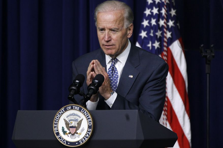 Vice President Joseph R. Biden Jr., who is president of the Senate, and three top officers of the chamber have been named in a lawsuit trying to overturn the Senate's filibuster rule. (AP Photo/Charles Dharapak)