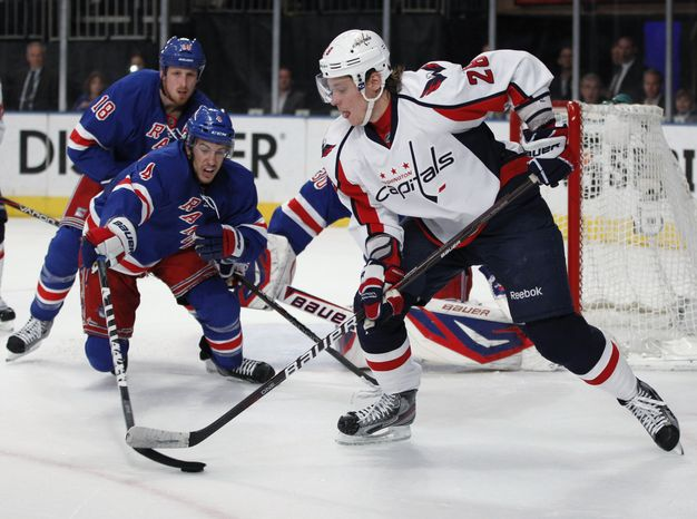 Alexander Semin will hit the free agent market looking to be a full-time player. He isn't ruling out the Capitals, but he wasn't happy with the limited role he was used in this season. (AP Photo/Kathy Willens)