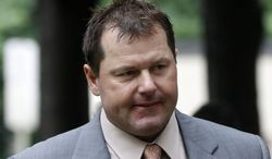 Former Major League Baseball pitcher Roger Clemens arrives May 15, 2012, at federal court in Washington for his perjury trial. (Associated Press)