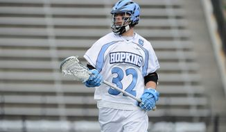 Chris Boland was a first-year player on the Johns Hopkins team that won the NCAA championship in 2007. He would love to conclude his collegiate career by helping coach Dave Pietramala capture another title. (Johns Hopkins University)