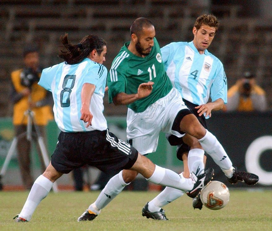 Al-Saadi Gadhafi, the son of former Libyan strongman Moammar Gadhafi, played for three professional soccer teams in Italy as Libyan state funds reportedly funded his career. (Associated Press)