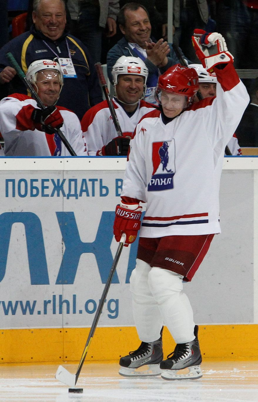 World history is filled with authoritarian rulers who have pretended to excel athletically, including Russia President Vladimir Putin on the hockey rink.