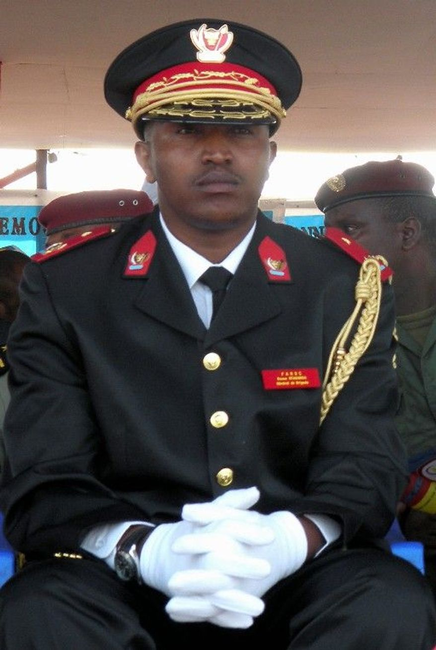 The International Criminal Court may expand its war-crimes indictment against Congolese Gen. Bosco Ntaganda, seen here in June 2010 at the 50th anniversary celebration of Congo's independence. (Associated Press)