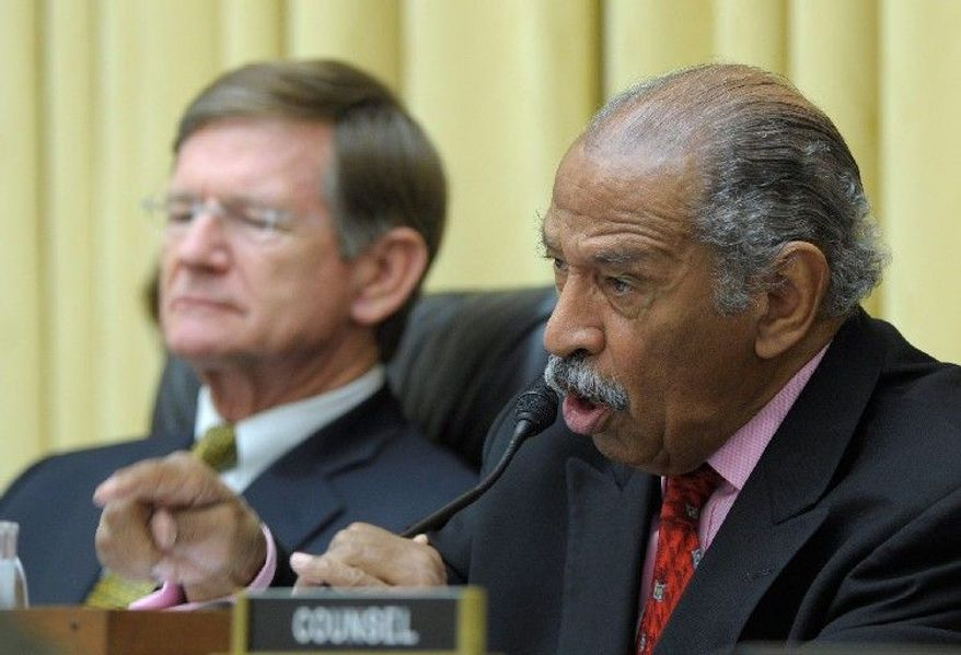 "Rep. John Conyers, Michigan Democrat, noted that about 300 organizations voiced opposition to the House domestic-violence bill before the vote. ""Who supports this bill? Who thinks this is a step in the right direction?"" he asked. (Associated Press)"