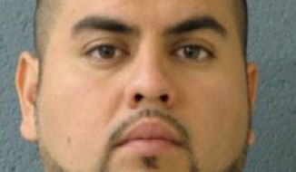 Arnoldo Jimenez is a suspect in the death of his new wife, 26-year-old Estrella Carrera, whose body was found stabbed and clothed in the silver sequin cocktail dress she wore at her wedding reception. (AP Photo/Burbank Police Department)