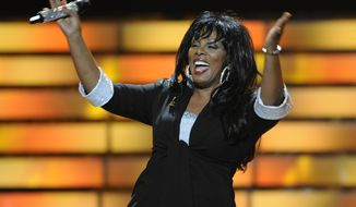 """**FILE** Donna Summer performs May 21, 2008, during the finale of """"American Idol"""" at the Nokia Theatre in Los Angeles. (Associated Press)"""
