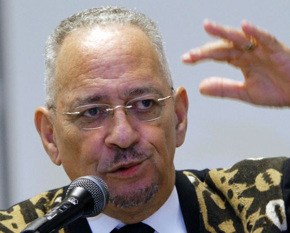 **FILE** The Rev. Jeremiah Wright, pastor emeritus of the Trinity United Church of Christ in Chicago, speaks in Jackson, M