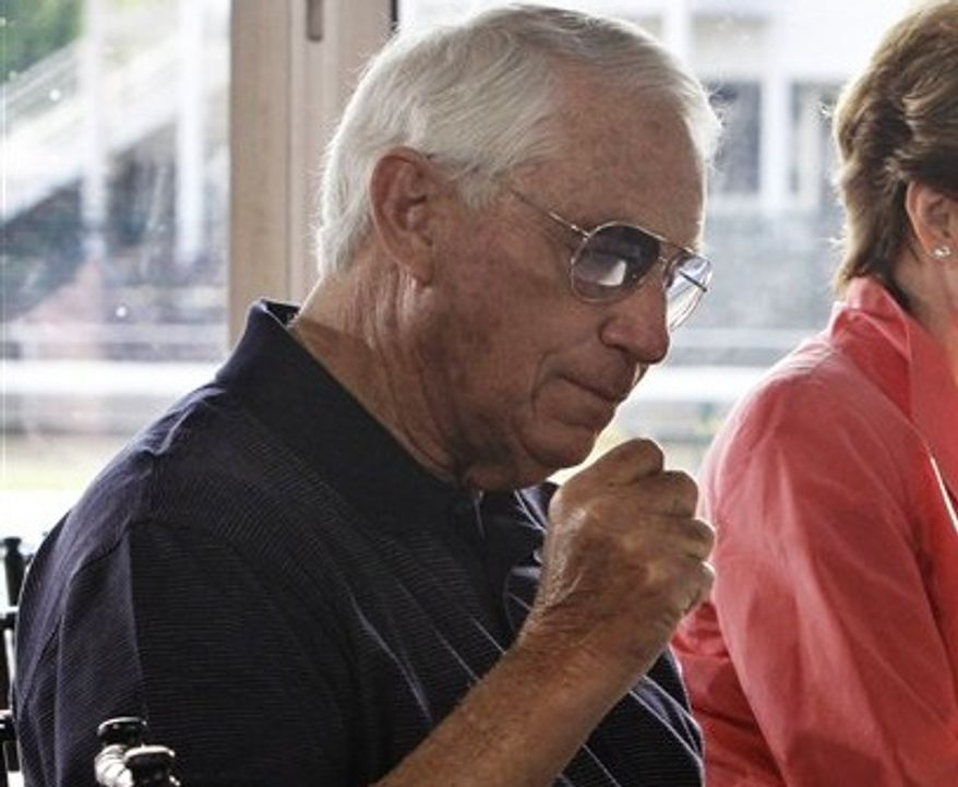Hall of Fame trainer D. Wayne Lukas has won five Preakness Stakes. (Associated Press)