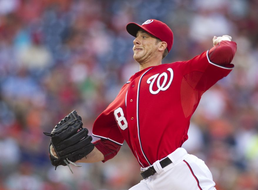 Ross Detwiler lasted five innings Saturday night in the Washington Nationals' 6-5 loss to the Baltimore Orioles, giving up six runs on nine hits (two home runs) and one walk. (AP Photo/Manuel Balce Ceneta)