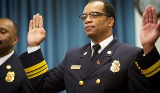 Fire Chief Kenneth Ellerbe, through a spokesperson, declined to discuss the action taken against Battalion Fire Chief Kevin B. Sloan. (Rod Lamkey Jr./The Washington Times)