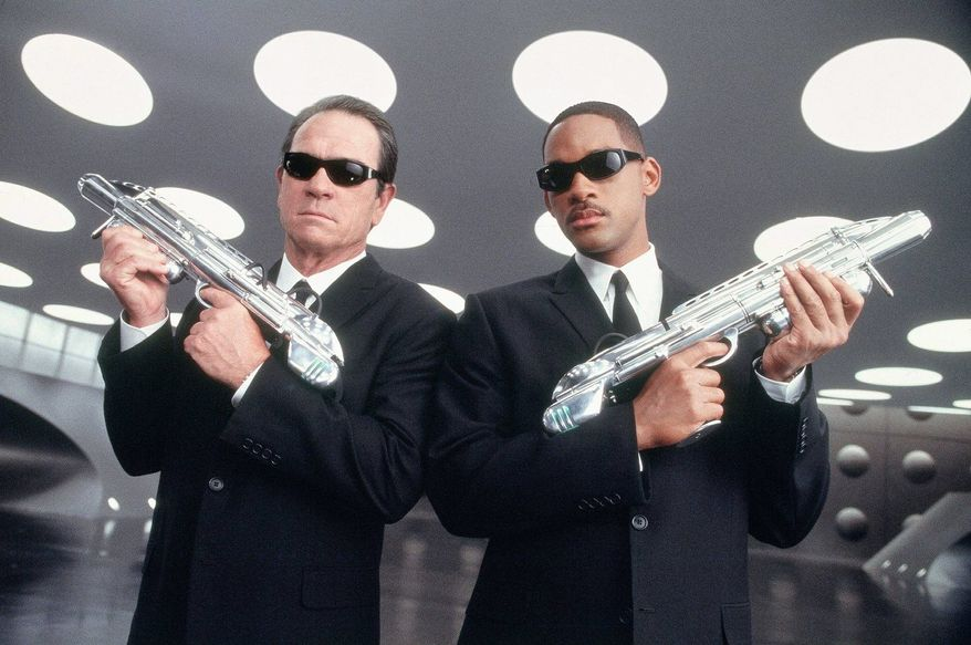 """Tommy Lee Jones (left) and Will Smith click as a team in the """"Men in Black"""" franchise. """"Men in Black 3"""" opens on Friday. (Sony Pictures)"""