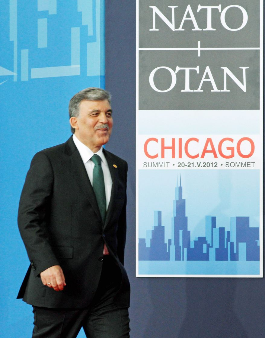 Turkey's president, Abdullah Gul, says he was told at the NATO summit that President Obama's administration is trying to persuade Congress to allow Predator drone sales to Turkey. (Associated Press)
