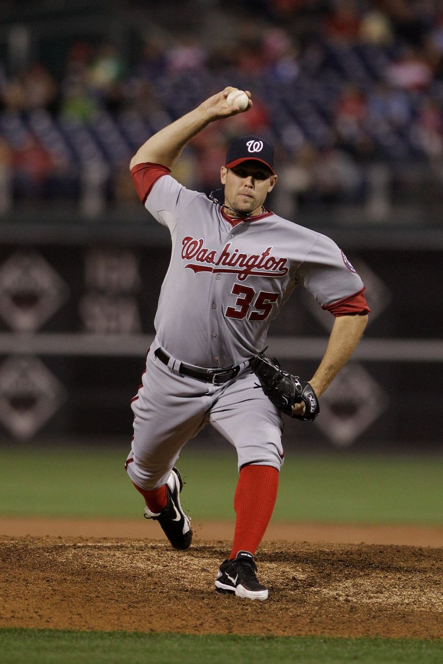 Washington Nationals reliever Craig Stammen is a candidate to save a few games for the Nationals after Henry Rodriguez lost the job. He has a 1.44 ERA and 0.92 WHIP. (AP Photo/Matt Slocum)