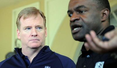 **FILE** NFL Commissioner Roger Goodell (left) and NFLPA executive director DeMaurice Smith