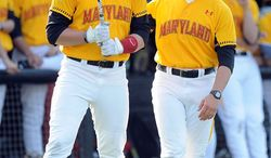 Erik Bakich (right) guided Maryland to a 32-24 record, but the Terrapins were just 10-20 in ACC play. Maryland last earned an NCAA invitation in 1971. (Maryland Athletics)