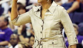 Jennifer Gillom played seven seasons in the WNBA and had coaching stints with the Minnesota Lynx and Los Angeles Sparks. (Associated Press)